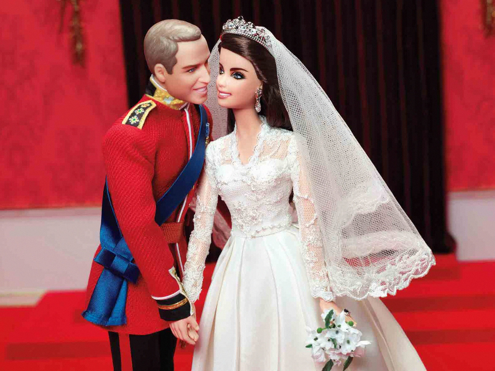 william et kate poupées mattel